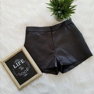 H&M | High Waisted Brick Print Shiny Shorts